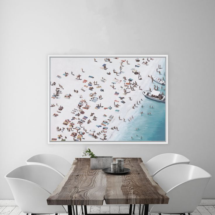 Featuring a vibrant aerial scene of beachgoers and boats in the Summertime, this canvas print was originally hand painted by our in-house artist team, and now available as a reproduction stretched and ready-to-hang canvas art piece. Size & frame colour options available. We ship worldwide. #ThePrintEmporium #sunbathers #beach #beachvibes #coastalprint #wallart #artprint #boats www.theprintemporium.com.au