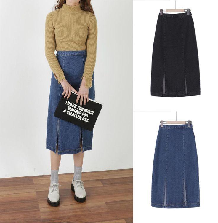 New Women Spring Casua Denim Jean Skirt Japanese/Korean Fashion #Unbranded #HLine