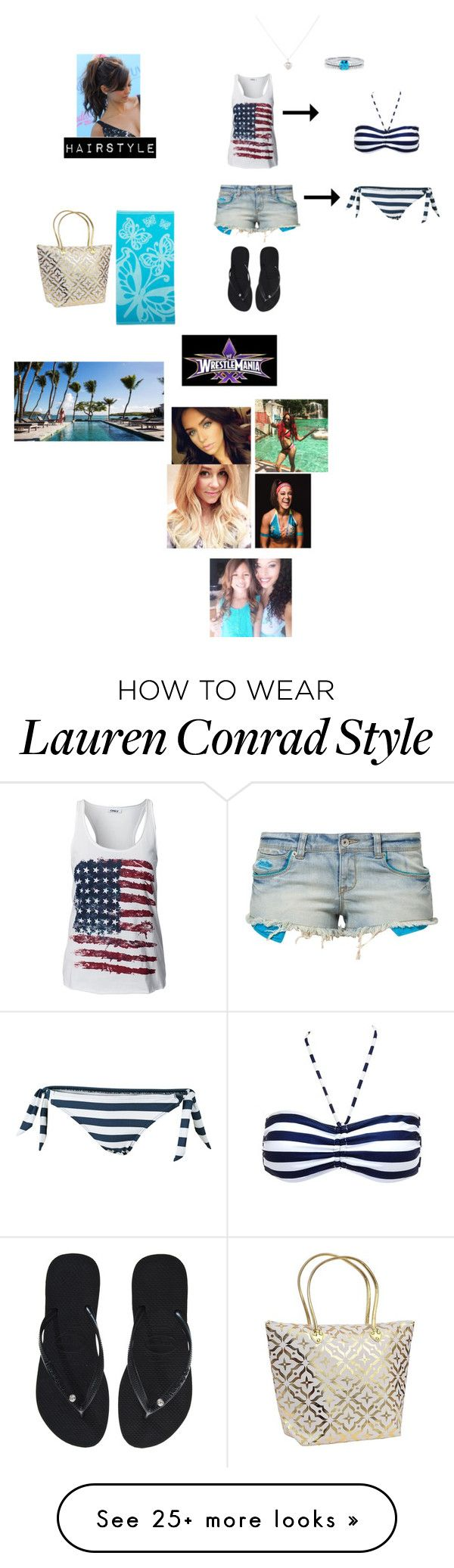 """""""At The pool Mania Week with Kelly, Jojo, Galina, Sasha & Bayley (Cailan's Outfit)"""" by wwetnagirl on Polyvore featuring Superdry, Charlotte Russe, Fat Face, Accessorize, BERRICLE, ONLY, Havaianas, Superior, Lauren Conrad and CUL-DE-SAC"""