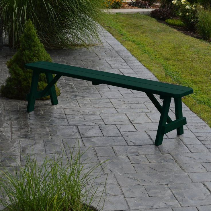 Outdoor A & L Furniture Yellow Pine Traditional Bench Dark Green - 153-DGP DARK GREEN