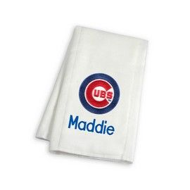 8 best chicago cubs baby gifts images on pinterest babies chicago cubs personalized burp cloth chicago cubs at designs by chad jake personalized baby gifts negle Choice Image