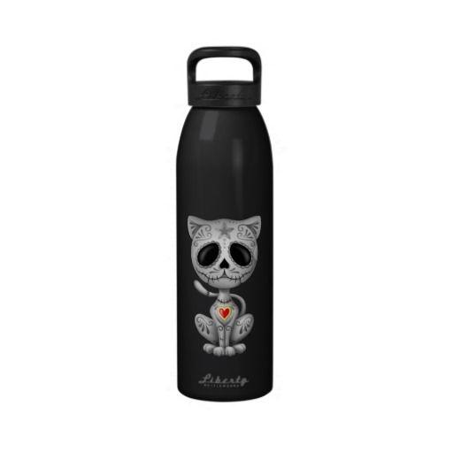 Dark Zombie Sugar Kitten Reusable Water Bottles