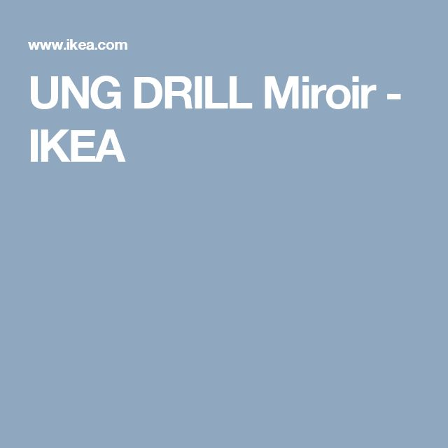 1000 id es sur le th me miroir ikea sur pinterest miroir for Miroir ung drill