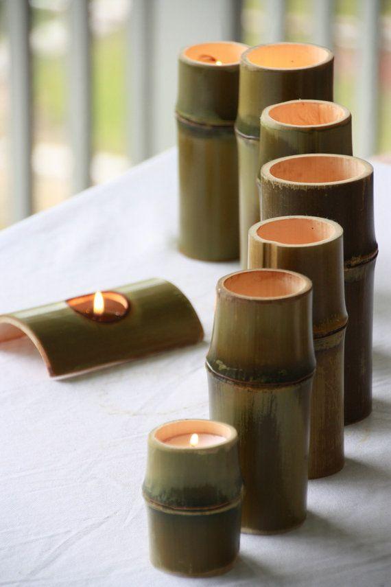 Boo-Light 100% USA Grown Bamboo Tea Light Votive Wedding Candle Holder