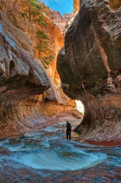 """""""The Subway"""" in Zion National Park, Utah."""