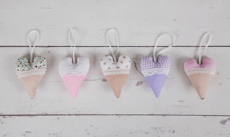 hanging heart with lace by homemadeByBZ on Etsy
