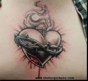 tattoo gallery for men: real heart tattoo designs for men