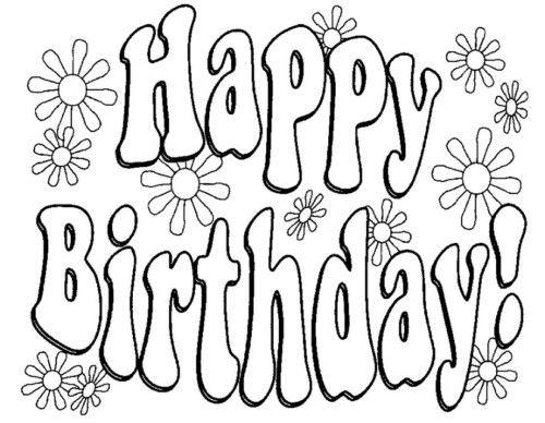 Carteles Y Tarjetas De Feliz Cumpleaños Para Colorear Abc