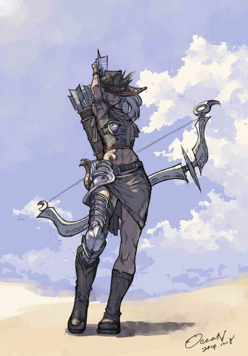 Final Fantasy XIV - Hyur (Bard) | Realm reborn | Pinterest | 期末試験 と ファイナルファンタジー