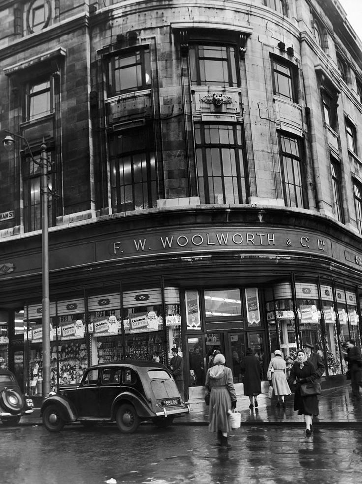F W Woolworth store on the corner of.. Art Print