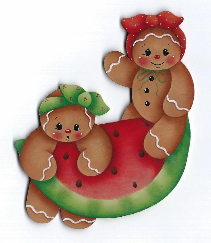 HP GINGERBREAD Watermelon FRIDGE MAGNET