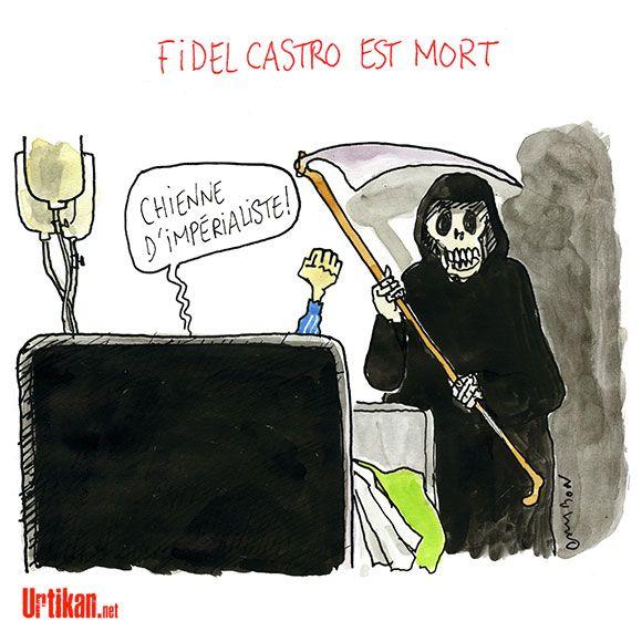 Mort de Fidel Castro : Cuba se prépare à une vague d'hommages - Dessin du jour - Urtikan.net
