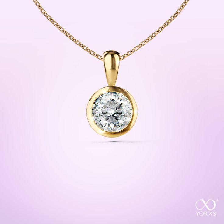 Let the sun shine! Or let's say: let the diamonds shine! Pendant Palilia #Yorxs #Gold #Diamantanhänger