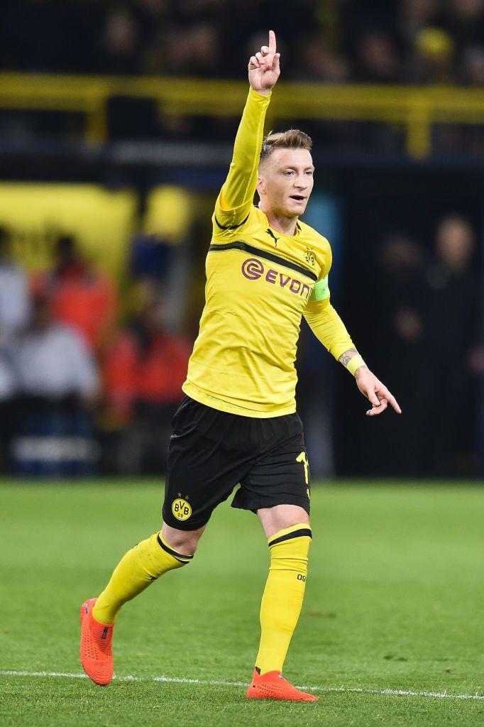 Marco Reus Of Borussia Dortmund Reacts During The Uefa Champions Borussia Dortmund Dortmund Marco Reus