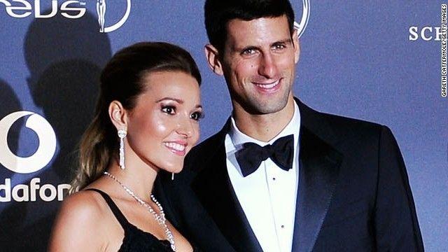 ノバク・ジョコビッチさん(右)と婚約者のエレナ・リスティッチさん ▼25Apr2014CNN|ジョコビッチさん、婚約者の妊娠を発表 http://www.cnn.co.jp/showbiz/35047114.html #Novak_Djokovic #Jelena_Ristic