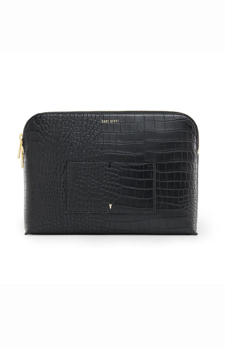 Sans Beast IMAVIP 13″ Laptop Pouch – Noir Croco