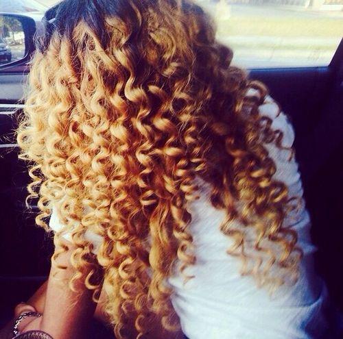 Dark Roots with Honey Blonde Wand Curls   Hair on fleek ...