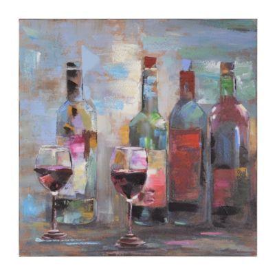 Transitional Wine Canvas Art Print | Kirkland's