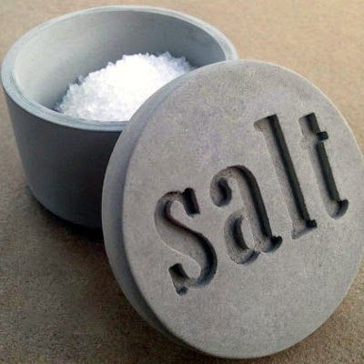 Concrete salt cup | Concrete product design | Cement | design | Beton design | Betonlook | www.eurocol.com