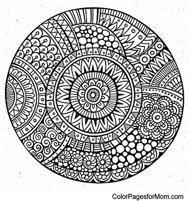 "Mandala Coloring Page 33 | free sample | Join fb grown-up coloring group: ""I Like to Color! How 'Bout You?"" https://m.facebook.com/groups/1639475759652439/?ref=ts&fref=ts"