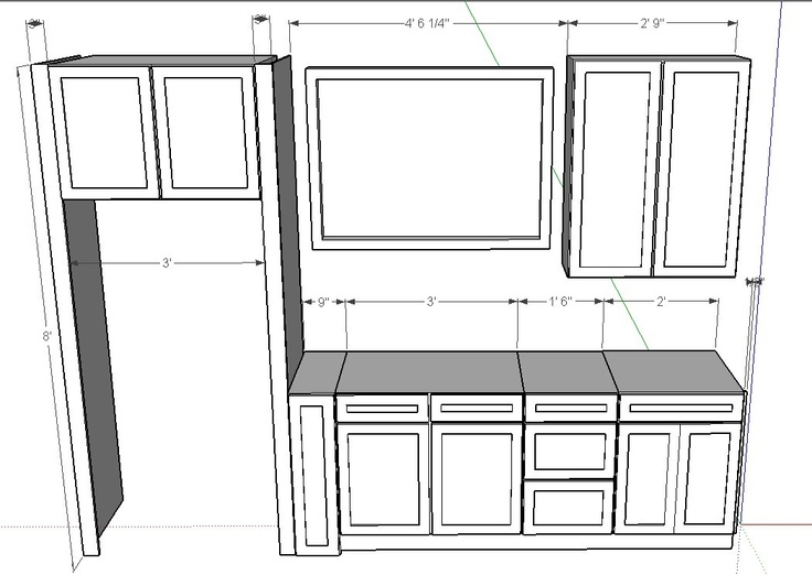 Free cabinet cad drawings woodworking projects plans for Autocad kitchen cabinets