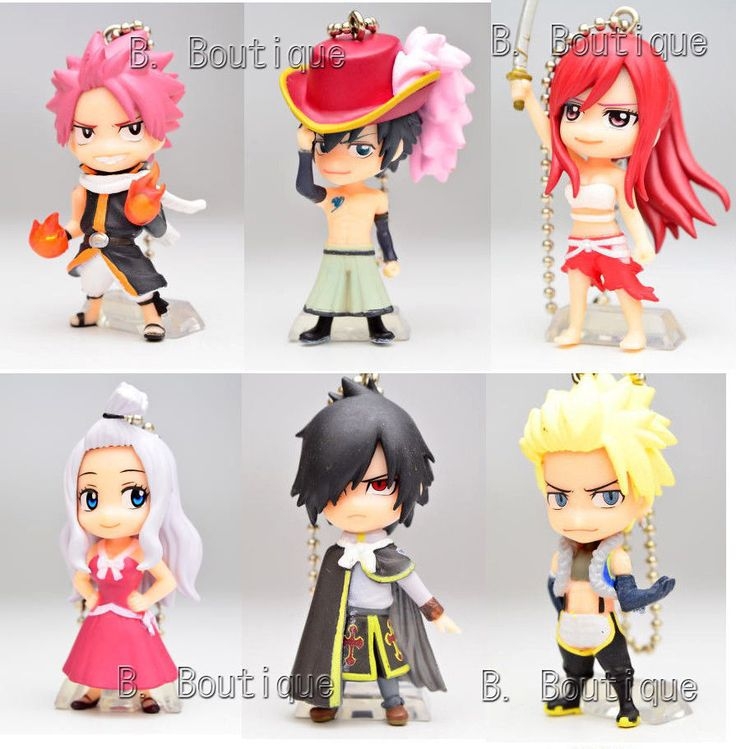 anime fairy tail figure keychain strap x1 only mirajane gray rogue sting anime fairy rogues. Black Bedroom Furniture Sets. Home Design Ideas