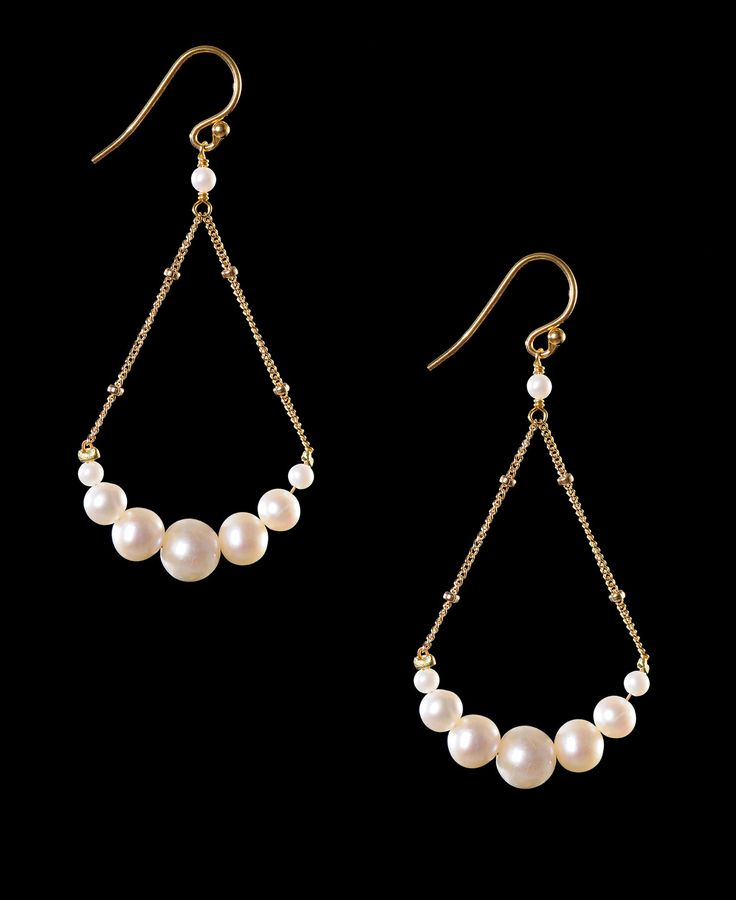 Mashka Pearl on Ball Chain Earrings! www.southmoonunder.com #ecrafty @ecrafty #ballchains