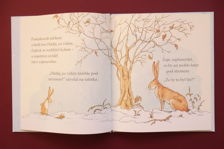 Je zima. Zajíček s tatínkem si vyšli na zasněženou louku a hráli hádankovou hru. Vyzraje zajíček na svého tatínka? Okouzlující příběh, krásné ilustrace.#kniha #pohadka #zima #deti #cteni #hadej