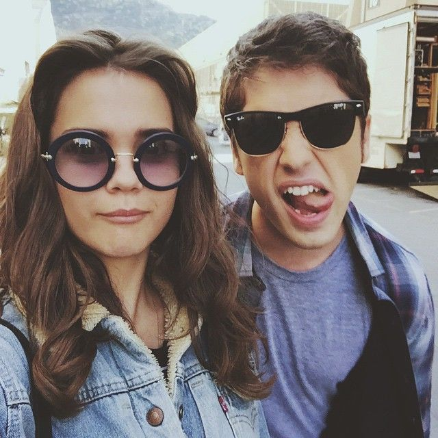 Maia Mitchell and David Lambert are so cute in this selfie together | The Fosters