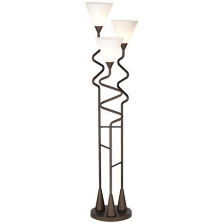 Possini Euro Design Danica 3 Light Floor Lamp Light