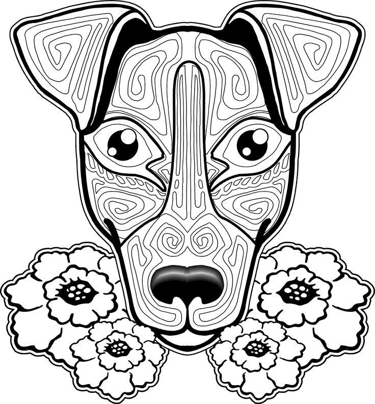8 best Dog Coloring Pages For Adults images on Pinterest