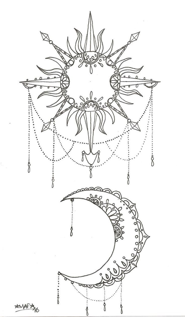 Sun And Moon Tattoo By Mafcartoons On Deviantart