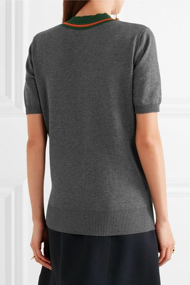 Marni - Striped Cotton Sweater - Charcoal - IT36