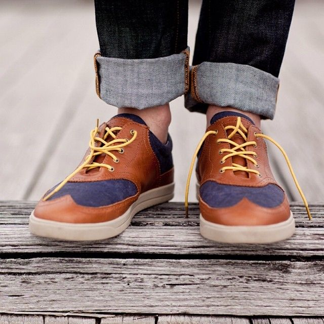 """Founder's Favourites. Luke - Goose Yellow """"The yellow goes with all my shoes and makes a statement in my getup."""" Today is your last chance to purchase the limited edition Founder's Favourites pack from our website! #maverickslaces #goose #yellow #laces #style #summer #fun #colour #mensshoes"""