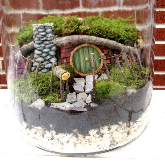 Hobbit House Fairy Garden oder Terrarium Set - handgemacht