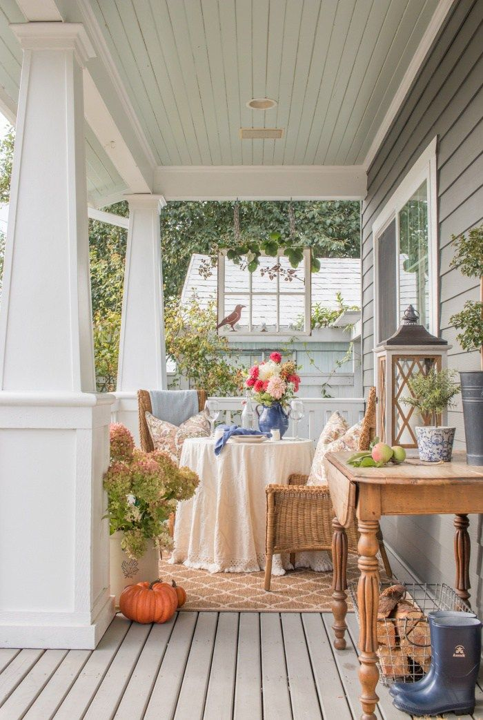 20 Inspiring Fall Porches Southern Hospitality Porch Table Porch Design House With Porch