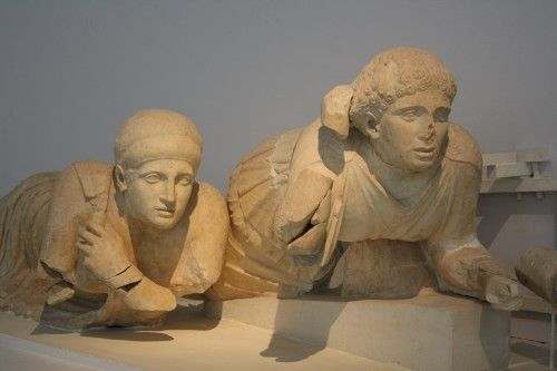 Pediment Detail, Temple of Zeus, Olympia (Illustration) - Ancient History Encyclopedia