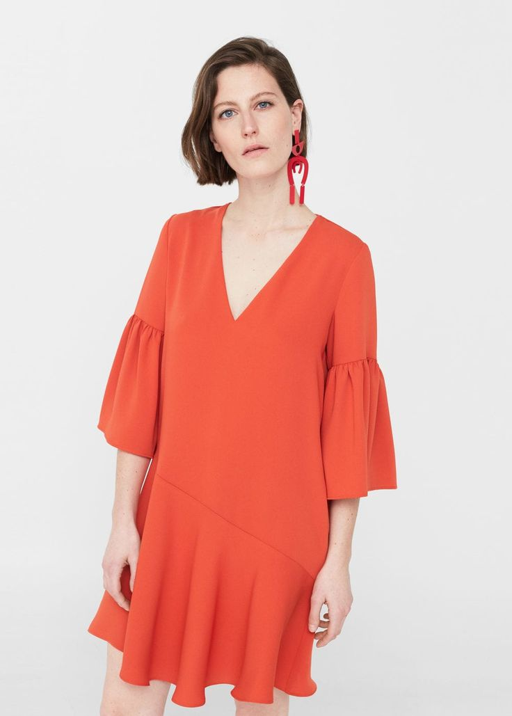 Ruffled dress -  Woman | MANGO United Kingdom