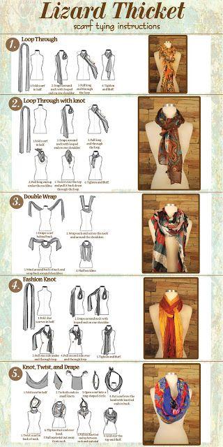 Formas de anudar una bufanda