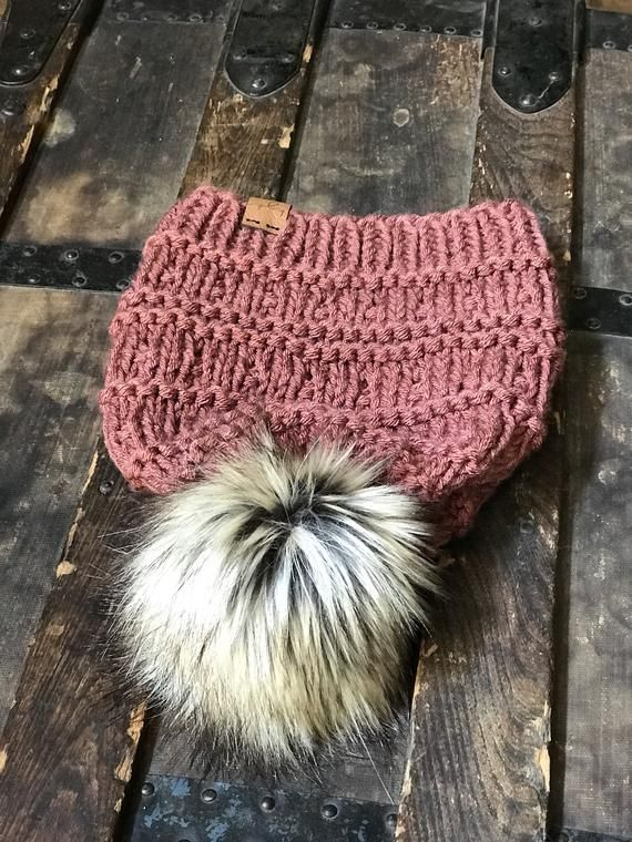 209717ff667 Made to Order Harper Beanie Knit Handmade Faux Fur Pom