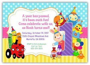 BabyFirstTV TV Favorites Birthday Party Invitation For Girls