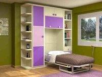 cama abatible vertical con mesa estudio