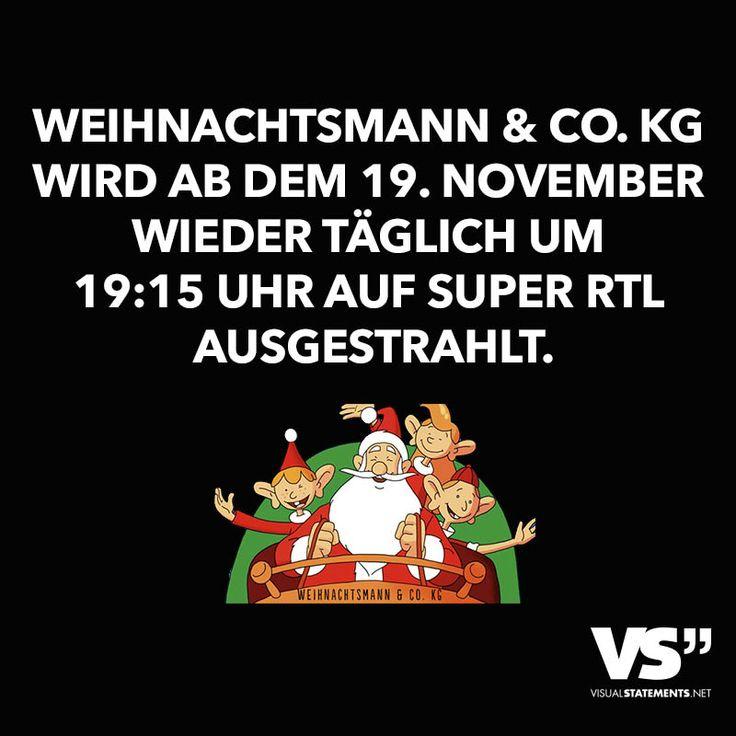 Weihnachtsmann & CO. KG wird ab dem 19. November wieder täglich um 19:15 Uhr auf Super RTL ausgestrahlt.