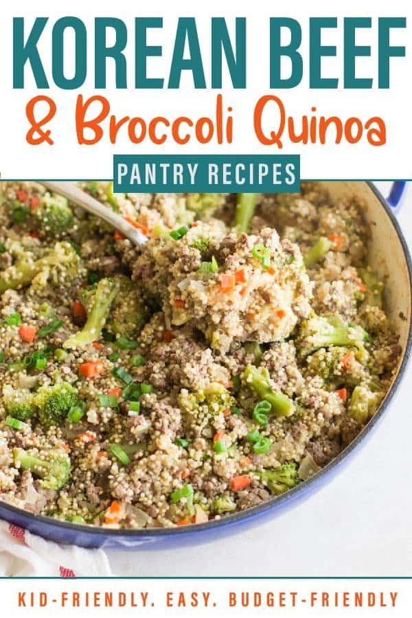 Healthy Korean Beef And Broccoli Quinoa Recipe Broccoli Beef Ground Beef Broccoli Beef Recipes