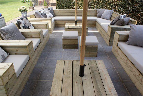 Rieten hoekbank buiten tuinmeubelen loungesets op lounges rieten en tuin le corbusier petite - Buiten idee ...