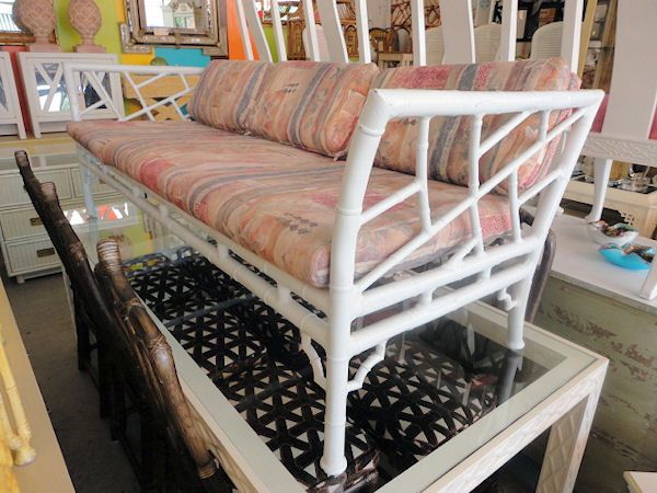 Metal FAUX BAMBOO Chippendale Sofa for the Patio:)