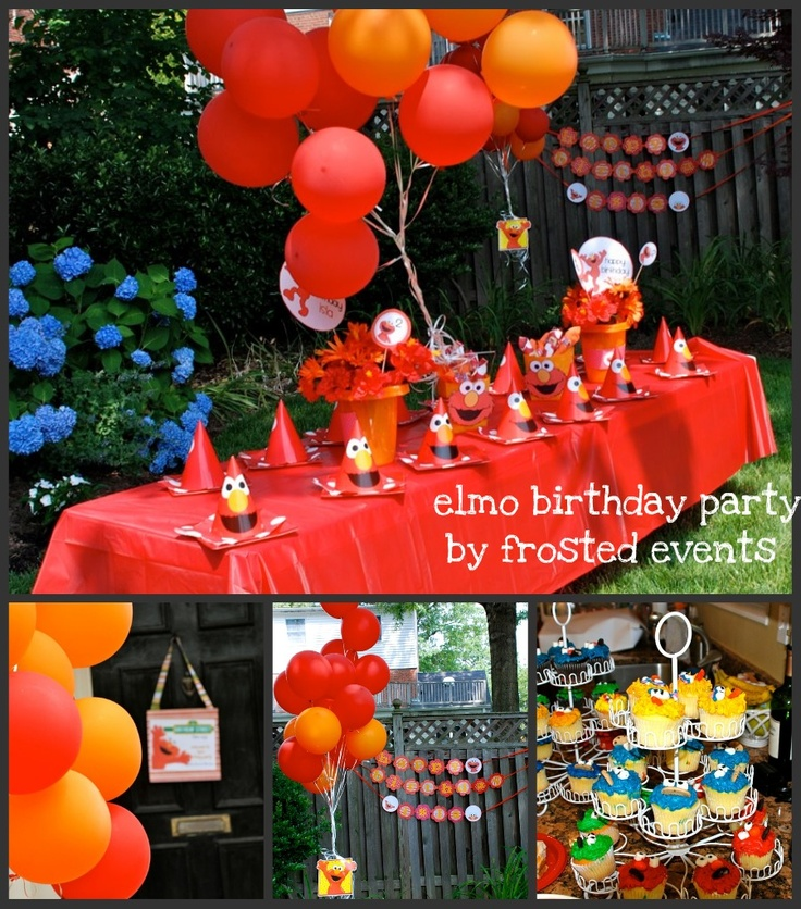 Elmo Party Ideas Danek S 1st Birthday Pinterest