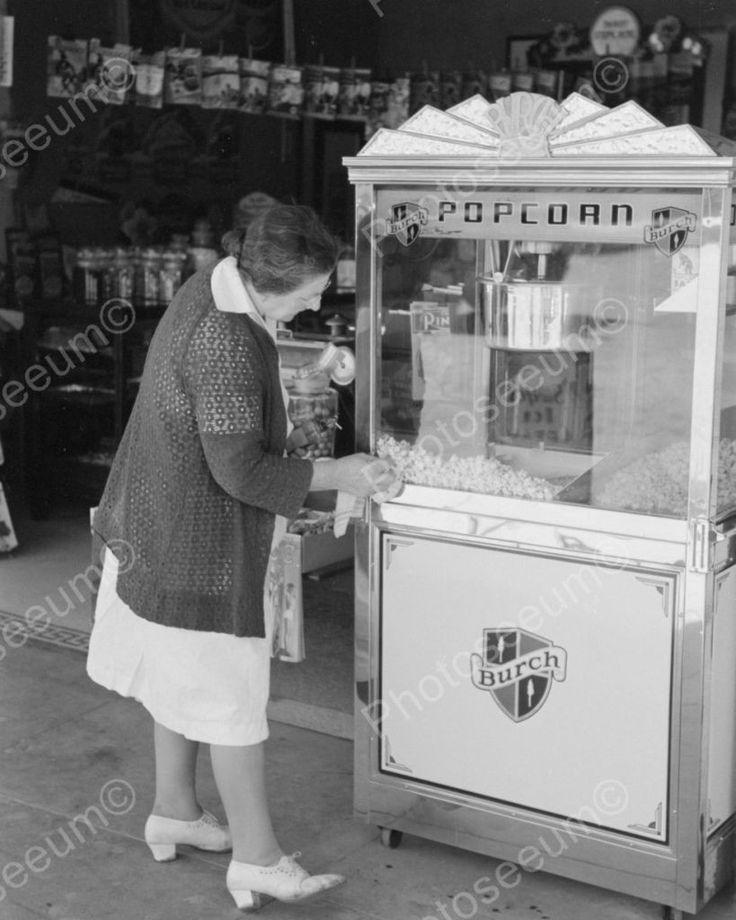 Burch Popcorn Machine Viintage 8x10 Reprint Of Old Photo