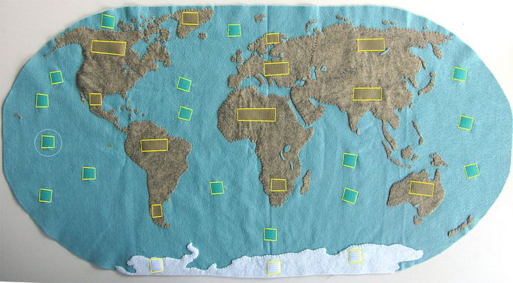 DIY Montessori Continents Map & Quietbook with 3-Part Cards