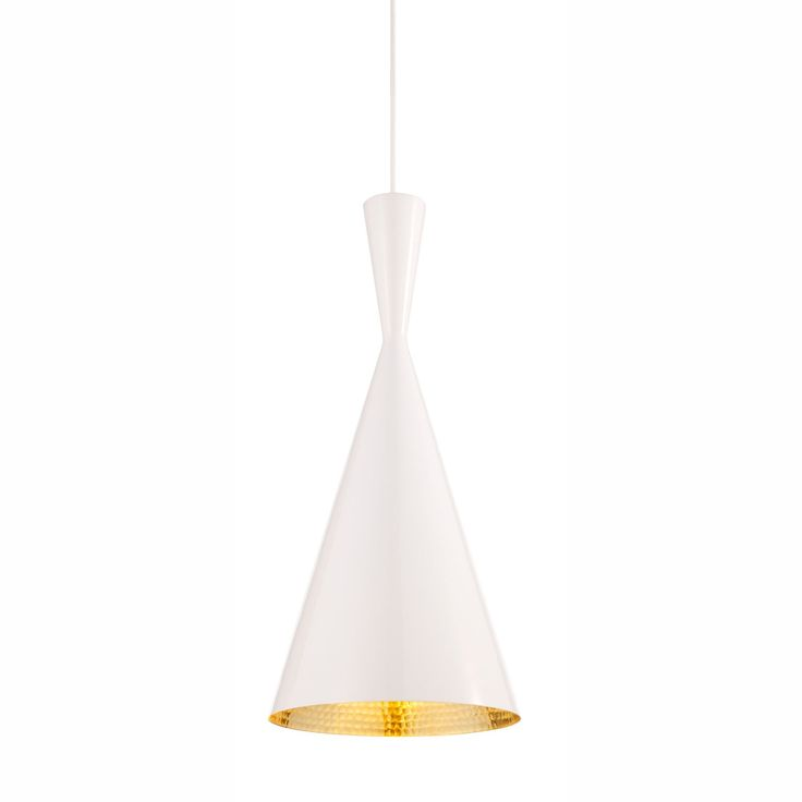 Tom Dixon Beat Tall Pendant  - White | BLS03WH-PEUM | £285.00